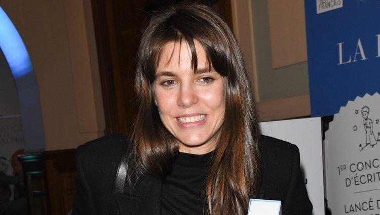 Carlota Casiraghi en un acto literario en París