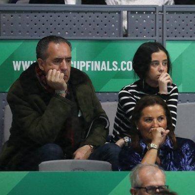 Victoria Federica y Jaime de Marichalar en la semifinal de la Copa Davis
