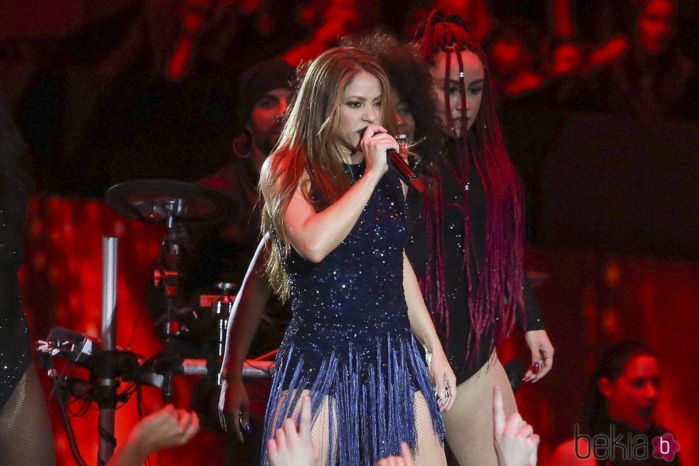 Shakira, actuando en la final de la Copa Davis 2019