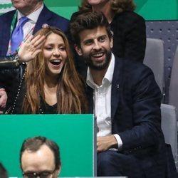 Shakira y Gerard Piqué, emocionados en la final de la Copa Davis 2019