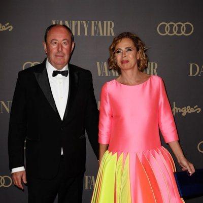 Ágatha Ruiz de la Prada y su novio, el empresario Luis Miguel Rodríguez, en la 'Fiesta Personaje del año Vanity Fair 2019'
