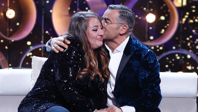 Jorge Javier Vázquez da un beso a Rocío Flores tras un bonito mensaje en 'GH VIP 7'