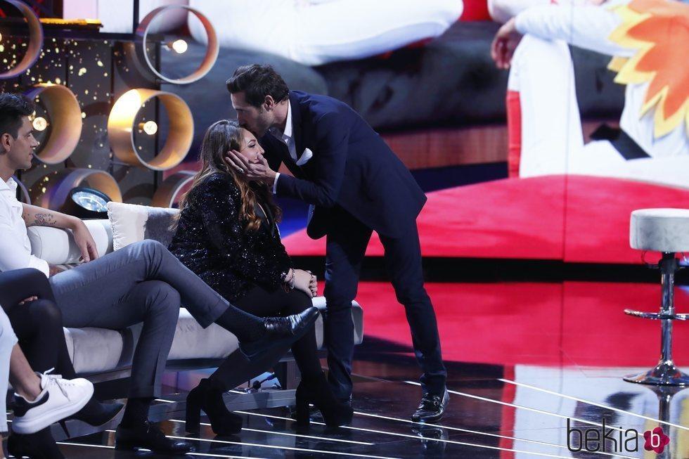 Antonio David Flores besa en la frente a Rocío Flores en la gala 12 de 'GH VIP 7'
