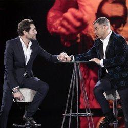 Antonio David Flores durante su entrevista con Jorge Javier Vázquez en la gala 12 de 'GH VIP 7'