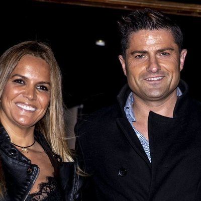 Marta López y Alfonso Merlos en la fiesta de Navidad de Unicorn