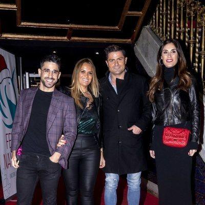Marta López, Alfonso Merlos, Miguel Frigenti e Isabel Rábago en la fiesta de Navidad de Unicorn