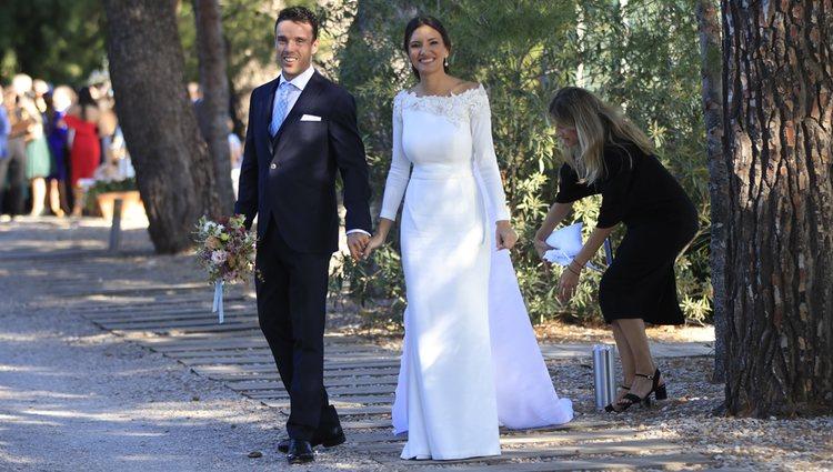 Roberto Bautista y Ana Bodí recién casados