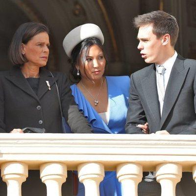 Estefanía de Mónaco, Louis Ducruet y Marie Chevallier en el Día Nacional de Mónaco 2019
