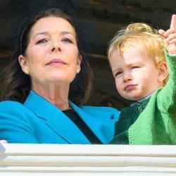 Carolina de Mónaco y su nieto Francesco Casiraghi en el Día Nacional de Mónaco 2019