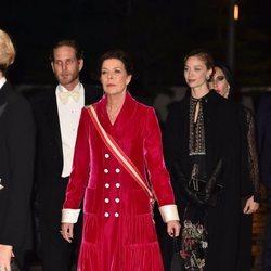 Carolina de Mónaco, Andrea Casiraghi y Beatrice Borromeo en la gala por el Día Nacional de Mónaco 2019