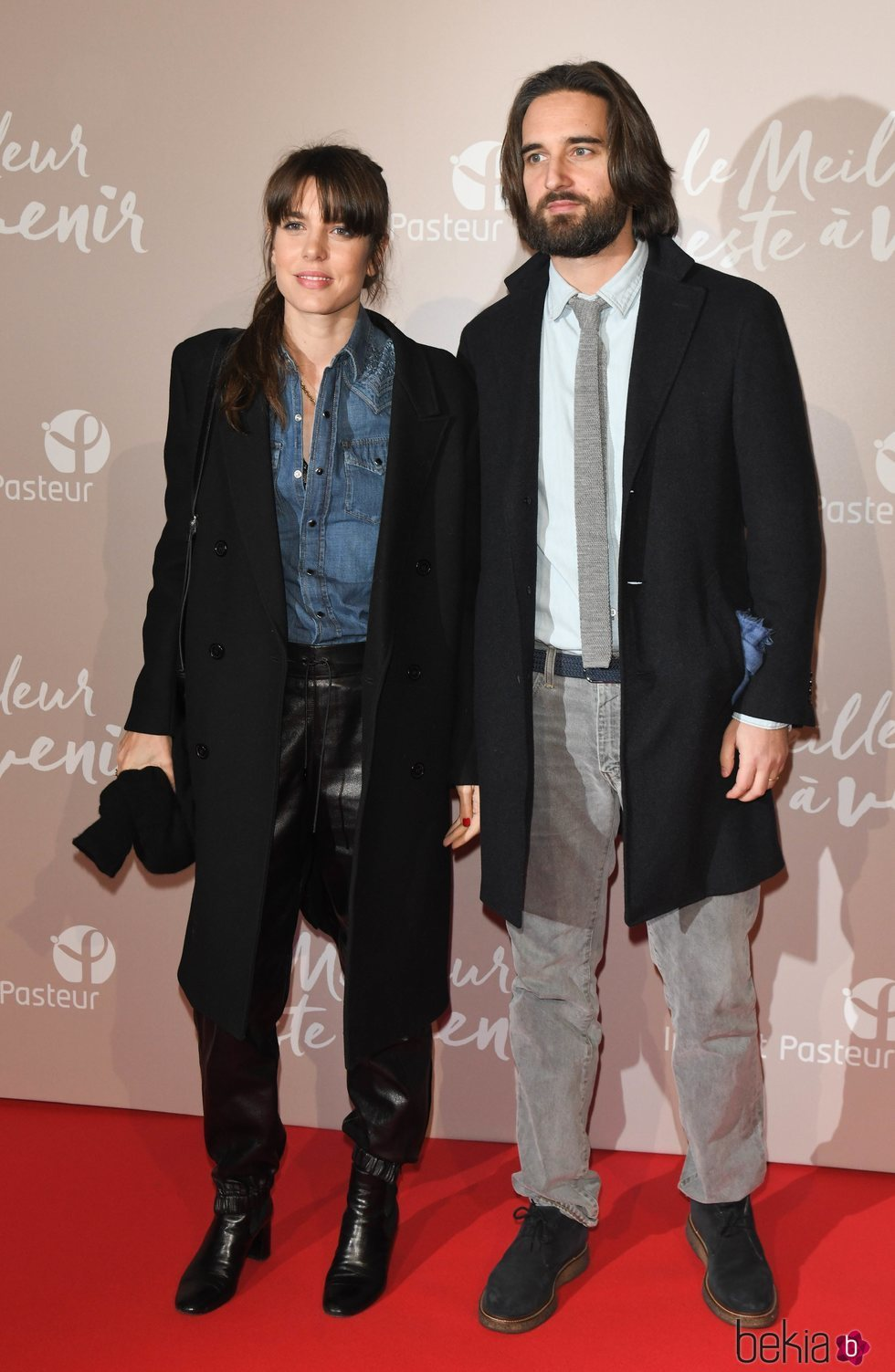 Carlota Casiraghi y Dimitri Rassam en el estreno de 'Le meilleur reste à venir'