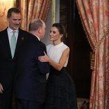 La Reina Letizia y Alberto de Mónaco en la recepción por la Conferencia sobre el Cambio Climático