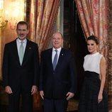 Los Reyes Felipe y Letizia y Alberto de Mónaco en la recepción por la Conferencia sobre el Cambio Climático