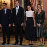 Los Reyes Felipe y Letizia con Pedro Sánchez y Begoña Gómez en la recepción por la Conferencia sobre el Cambio Climático