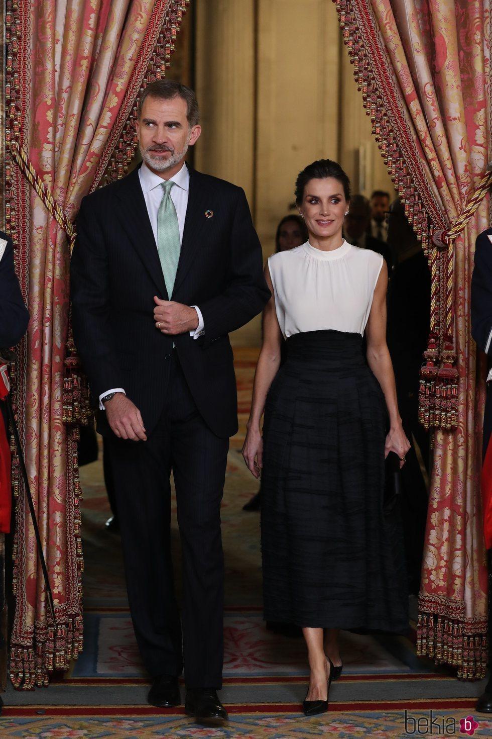 Los Reyes Felipe y Letizia en la recepción por la Conferencia sobre el Cambio Climático