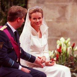 Felipe y Matilde de Bélgica el día de su boda