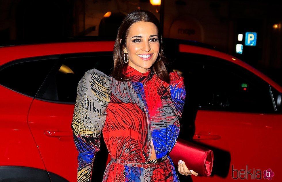 Paula Echevarría, llegando a la fiesta del 15 aniversario de In Style