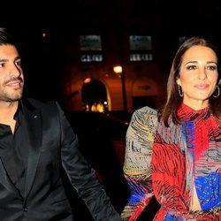 Paula Echevarría y Miguel Torres, llegando a la fiesta del 15 aniversario de In Style