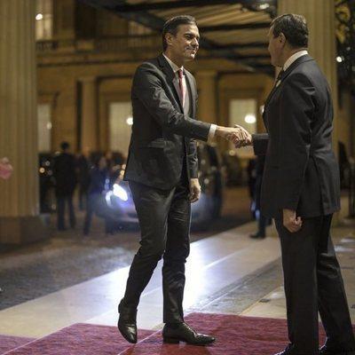 Pedro Sánchez en Buckingham Palace para el 70 aniversario de la OTAN