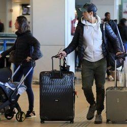 Ana Boyer y Fernando Verdasco terminan su visita a Madrid