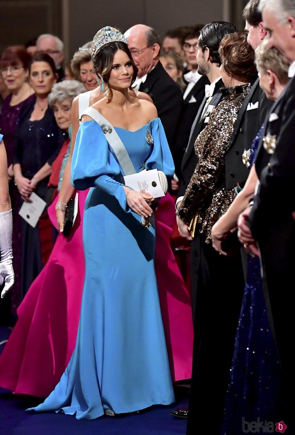 Sofia Hellqvist en la entrega de los premios Nobel 2019