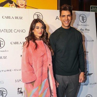 Estela Grande y Diego Matamoros en el desfile de la nueva colección de Tony Fernández