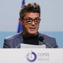 Alejandro Sanz, en una conferencia de la Cumbre del Clima de Madrid 2019