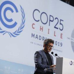 Alejandro Sanz interviniendo en la Cumbre del Clima Madrid COP25 2019