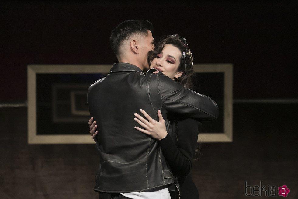 Adara y Gianmarco se abrazan en su reencuentro de la gala 14 de 'GH VIP 7'