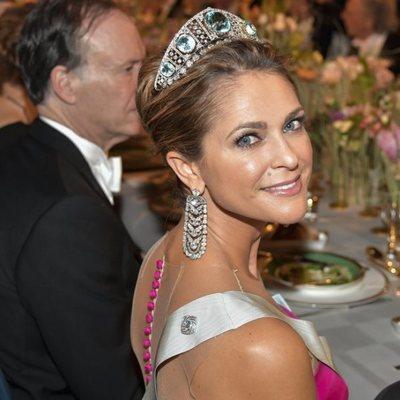 Magdalena de Suecia en la cena de los Nobel 2019