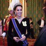 Kate Middleton en la recepción al cuerpo diplomático en el Palacio de Buckingham