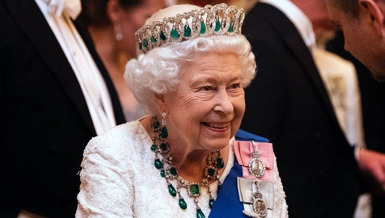 La Reina Isabel en la recepción al cuerpo diplomático en el Palacio de Buckingham