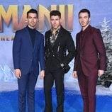 Los Jonas Brothers en la premiere de 'Jumanji'