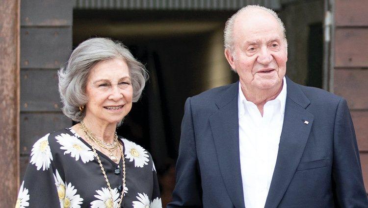 Los Reyes Juan Carlos y Sofía en la felicitación de Navidad 2019