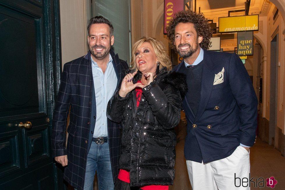 Kike Calleja, Lydia Lozano y José Antonio León en la cena de Navidad de 'Sálvame' 2019