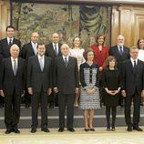 Los Reyes, Mariano Rajoy y sus 13 ministros en la Zarzuela