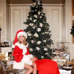 Heidi Klum vestida de Mamá Noel