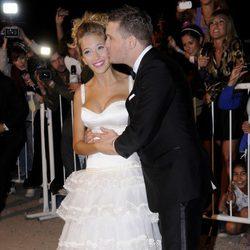 Michael Bublé y Luisana Lopilato el día de su boda