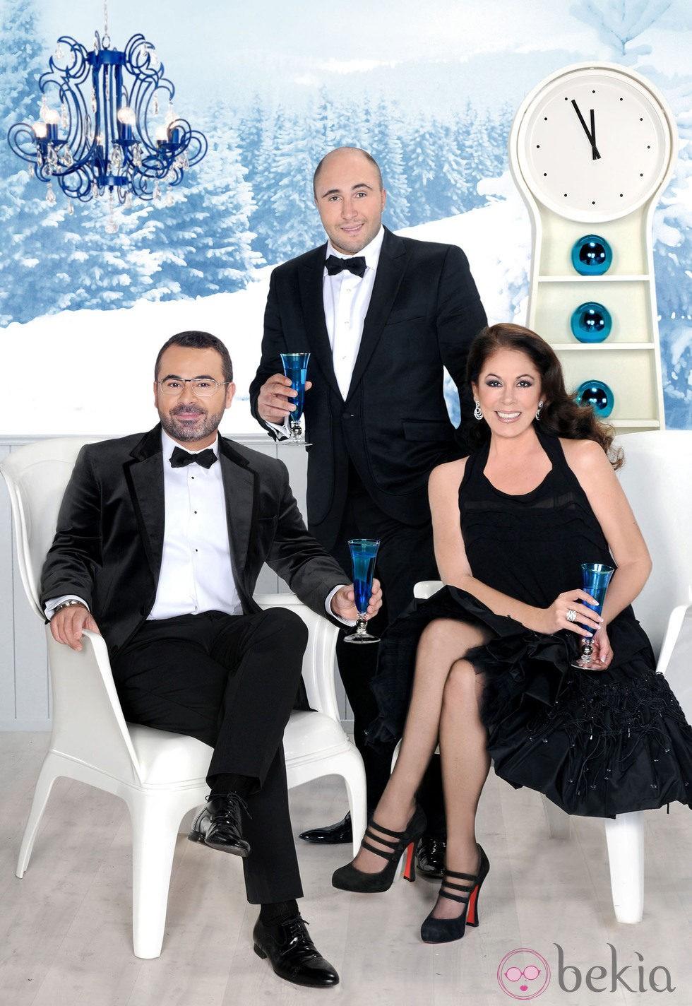 Jorge Javier Vázquez, Isabel Pantoja y Kiko Rivera promocionan las Campanadas 2011