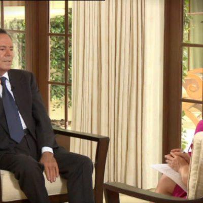 Julio Iglesias en una entrevista en televisión