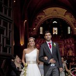 Boda de Raúl Albiol con su novia Alicia Roig