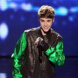Justin Bieber en la final de 'Factor X' en Estados Unidos