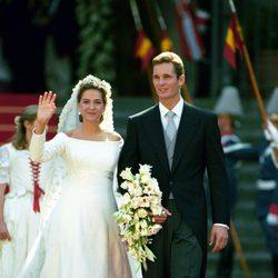 Boda de la Infanta Cristina e Iñaki Urdangarín en 1997