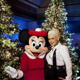 Christina Aguilera en en una gala especial de navidad para ABC