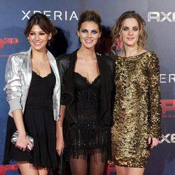 Alba Ribas, Úrsula Corberó y Amaia Salamanca en el estreno de XP3D en Madrid