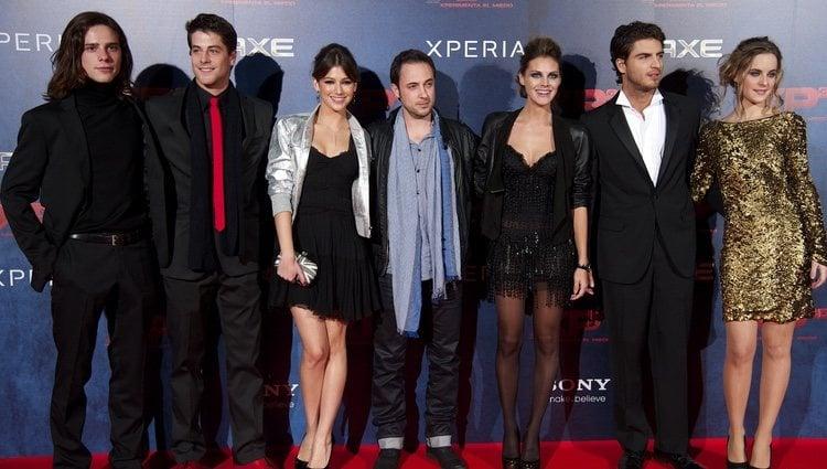 Todo el elenco de XP3D en su estreno en Madrid
