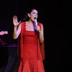 Isabel Pantoja durante un concierto ofrecido en Valladolid