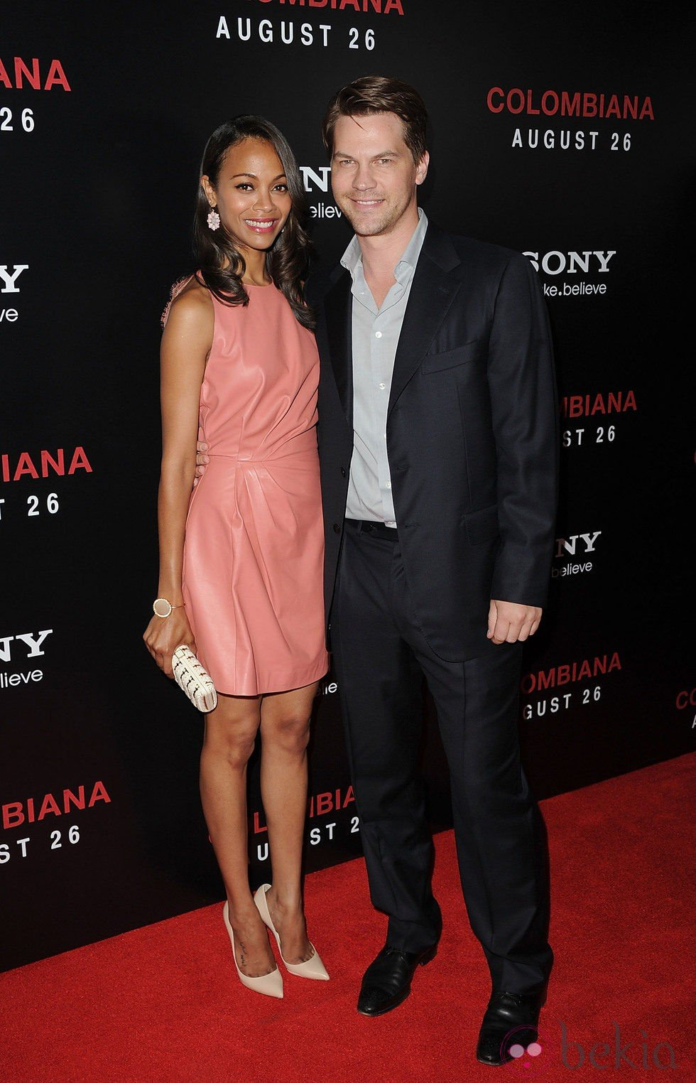 Zoe Saldaña y su ex pareja Keith Britton
