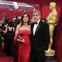 Elisabetta Canalis y George Clooney