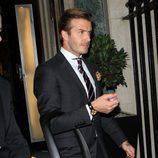 David Beckham con su hija Harper Seven en Nochevieja
